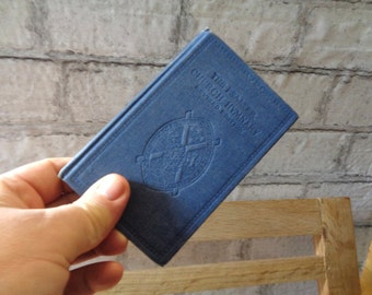 Vintage miniature book The Psalter Church Hymnary revised edition Presbyterian Church Ireland Christian blue pocket size hardcover 1965 344