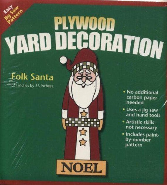 Santa christmas lawn sign prop ornament signs wood craft for Christmas yard signs patterns