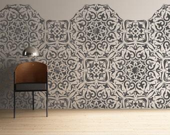 MYSURU Stencil - Indian Bohemian Wall Furniture Floor Craft Stencil - MYSU01