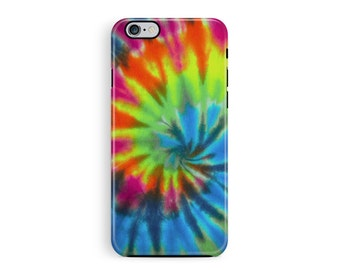 TIE DYE iphone 5 case, rainbow iphone case, tie dye case, hippy tie dye, colourful iphone cover, 90s phone case, cool pattern, geometric