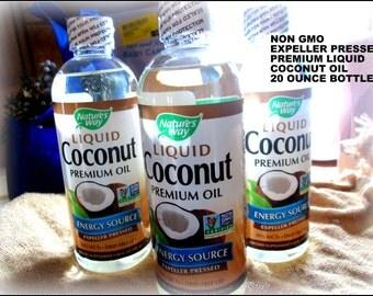 Expeller Pressed Liquid Coconut Oil,Non GMO Liquid Coconut Oil,93% MCT ,Soap Making Supplies,Bath And Body Supplies, 20 Oz. Bottles