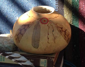 """decorative gourd - """"Harmony"""" - painted gourd"""