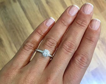 Engagement Ring  1.74 Carat Diamond Engagement Ring Round Brilliant Cut D/SI1 #J73199  FREE SHIPPING