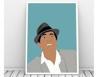 Dean Martin Poster, Dean Martin Art, Instant Download, Downloadable Art, Famous People, Music Artwork, Music Print, Rat Pack, Italian Singer
