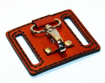 Leather KeyChain Belt Clip Holder, Handmade Keyholder, Belt Accessories, Handmade belt Key Hook, Handmade Gift!