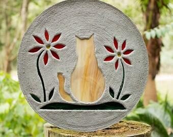 Orange Tabby Kitty Cat Stepping Stone #26