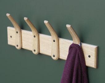 English Oak Steam Bent Hooks & Backboard