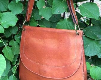 Vintage Italian Leather Handbag / Pocketbook