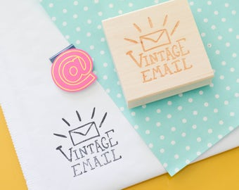 Etsy Shop Stamp, Vintage Email Stamp, Shipping Stamp, Packaging Stamp, Stamp for Etsy Shop, Stamp for Packages, Snail Mail Stamp, Happy Mail