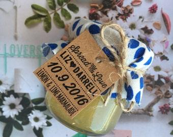 Mini Jam & Honey Jar Wedding Favours / Bonbonniere / Favors