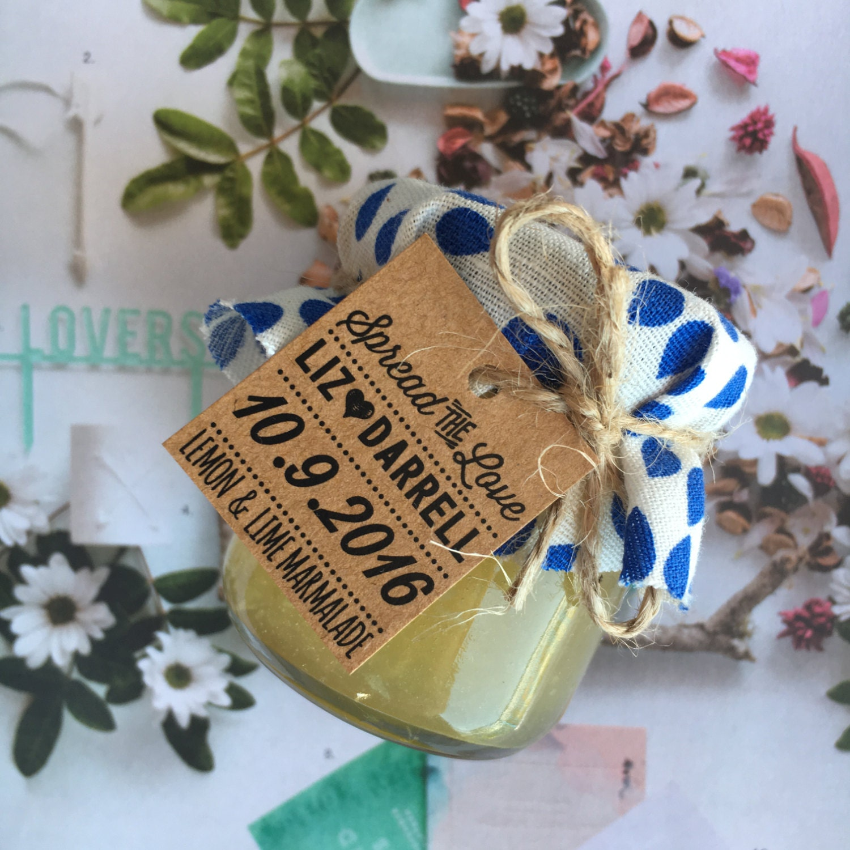 Mini Jelly Jars Wedding Favors