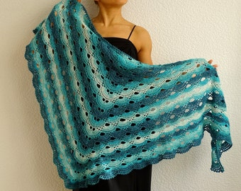 SALE, crochet shawl, lace shawl, knit shawl, festival shawl, triangular shawl, crochet wrap, knit wrap, knit cowl, cover up, ready to ship