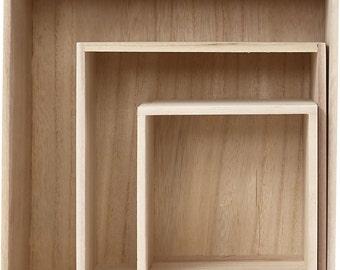 3x Wooden Boxes SALE