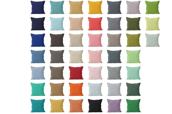 Solid Pillow Cover 45 colors available 18x18 Solid Throw