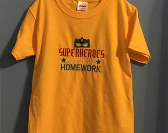 No need for homework when you are a super hero.