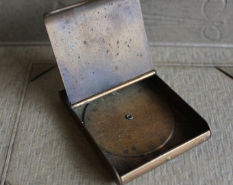 Vintage Post War Brass Match Safe with Wheel Calendar Dating 1946 -1951