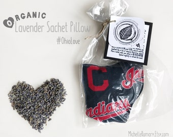 Cleveland Indians Organic French Lavender Sachet In the Shape of Ohio