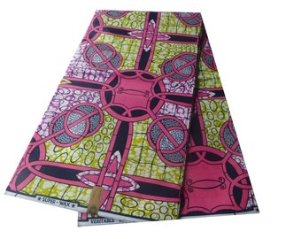 WHOLE 6 YARDS  African Wax Prints /Fabrics For Dressmaking/ Sewing/Cotton Fabrics/Kitenge/Pagnes Tissues Africain(0034)