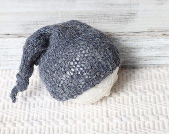 new born baby boy hat,photo prop, knitted Sleeping hat