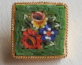 Sweet Little Micro Mosaic Brooch!