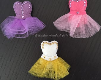 Brooch Tutus for all lovers of Ballet. Handmade. Dance collection. Also available as a magnet.