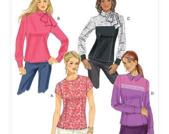 Butterick Sewing Pattern B6419 Misses' Button-Back Blouses