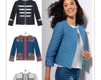 McCall's Sewing Pattern M7549 Misses' Open-Front, Banded Jackets with Yokes