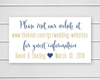 Wedding Website Stickers, Save the Date Stickers, Wedding Info Stickers (#340)