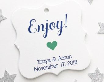 Enjoy Favor Tags, Enjoy Wedding Favor Tags, Wedding Hang Tags  (FS-028)