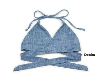 Seamless Wrap-around Halter Bikini Top