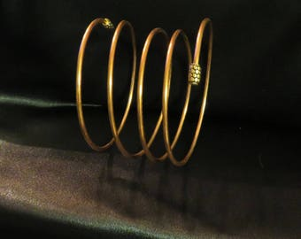 Stunning Ladies  Spiral Copper Cuff Adjustable Bracelet