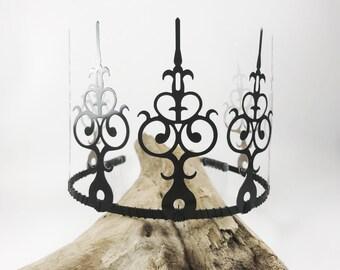 Gothic Crown - Gothic Tiara - Evil Queen Crown - Elven Crown - Evil Tiara - Steampunk Crown - Fairy Tiara - Queen Crown