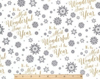 Christmas Cotton Fabric-Wonderful Time Of The Year sold by the yard