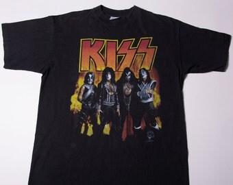 Vintage Kiss 90s Band Tshirt