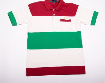 Vintage Fred Perry Tricolore Italian Flag 90s Polo Shirt