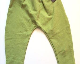 SALE / Light Green Harem Toddler Pants