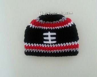 Atlanta Falcons Crochet Hat, Falcons Baby Hat, Atlanta Falcons Photo Prop , Football Hat, Newborn Atlanta Falcons, Infant Atlanta Falcon Hat