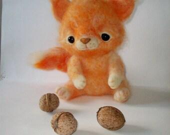 felt squirrel, felt toy, eco gift, nursery decor,forest life