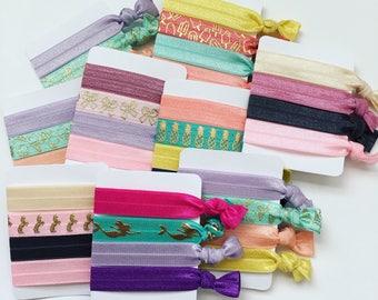 GRAB BAGS - Elastic Hair Ties - Fold Over Elastic Hair Ties - Knotted Hair Ties