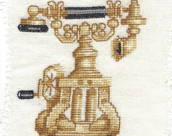 Old Fashion Telephone Cross Stitch
