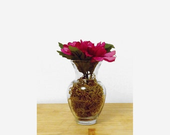 Gift For Mom, Spring Centerpiece, Silk Dahlia, Small Arrangement, Living Room Decor, Bud Vase, Get Well Gift, Accent Decor
