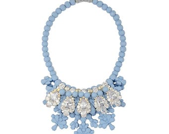 Silicone Necklace with cubic zirconia