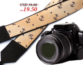 Anchors camera strap. Beige DSLR / SLR Camera Strap. Photo accessories by InTePro