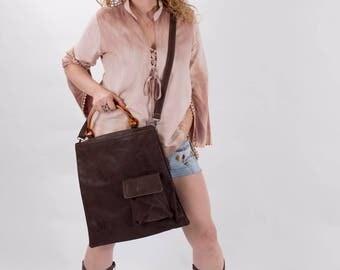 Brown Leather Bag, Women 7Handbag, Laptop Bag, Leather Handbag, Shoulder Bag, Messenger Bag, Women's Leather Bag, Trending Bag, Double Bag