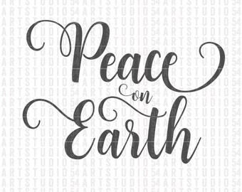 Peace on Earth Svg - Digital File - Clip Art - SVG, PNG, JPG, - Personal and Commercial Use - Artstudio54