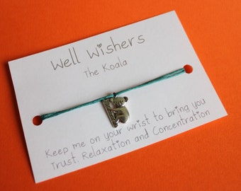 The Koala - Trust, Relaxation and Concentration | Well Wisher Charm Bracelet Jewellery, Wish Bracelet, Best Friend, Birthday Gift, Travel