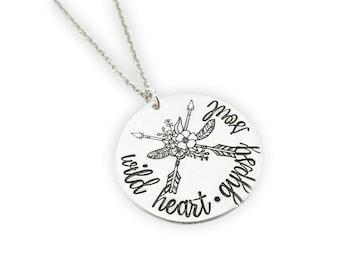 Wild heart gypsy soul - arrow necklace  wanderlust necklace - arrow jewelry - feather jewelry - boho jewelry - native jewelry - dreamcatcher