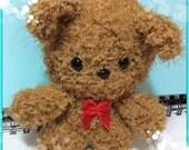Scruffy Ted crochet amigurumi