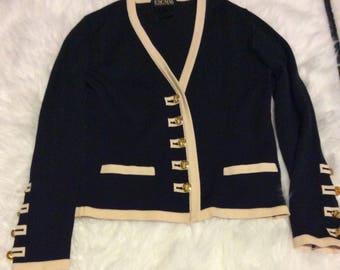 Escada knit button down sweater size 6