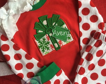 personalized Christmas pajamas, Christmas Pjs, matching christmas pajamas
